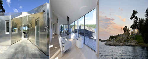 Cabana de Alumínio na Noruega