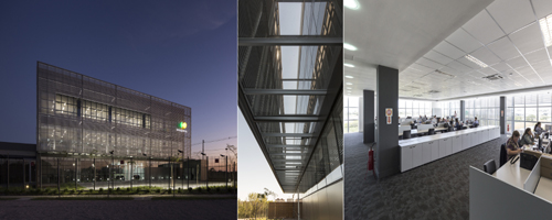 Nova sede de empresa se destaca por fachada com brise soleil