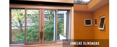 Uso de janelas blindadas