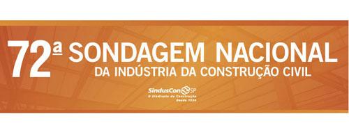 Nova edição: Sondagem Nacional da Indústria da Construção