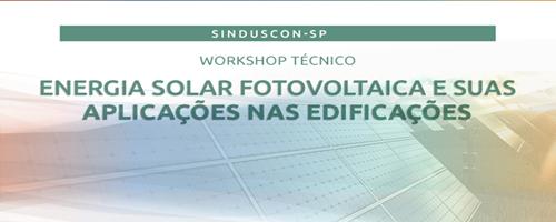 Workshop abordará energia solar fotovoltaica