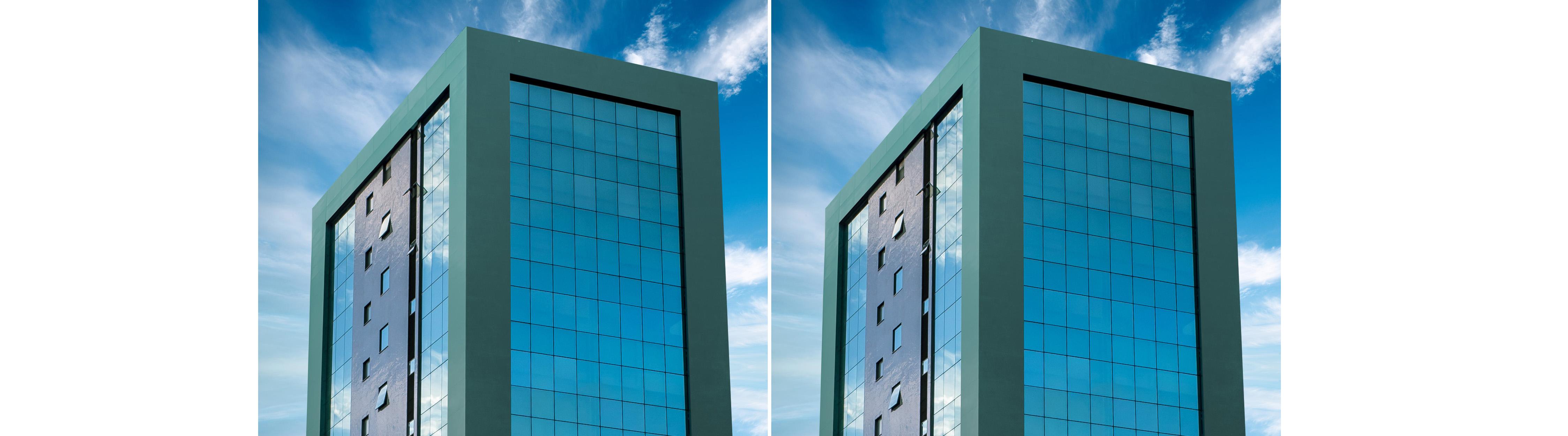 Revestimento inovador em ACM muda de cor com exposição solar